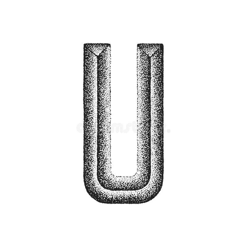 Lettre tirée par la main de vintage illustration de vecteur