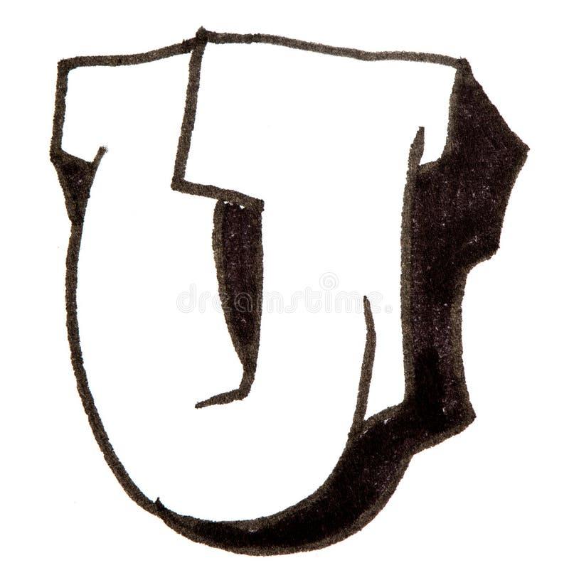 Lettre u alphabet dans le style de graffiti photo stock image du noir type 56600332 - Lettre graffiti alphabet ...
