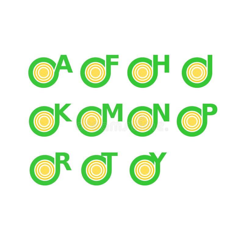 Lettre unique Logo Alphabets images stock