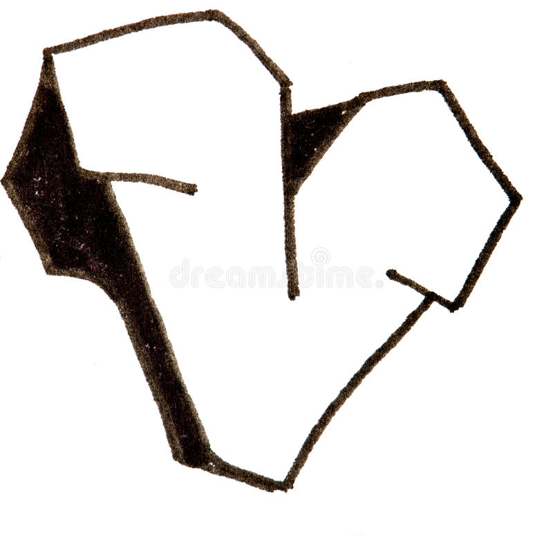 lettre v  alphabet dans le style de graffiti image stock