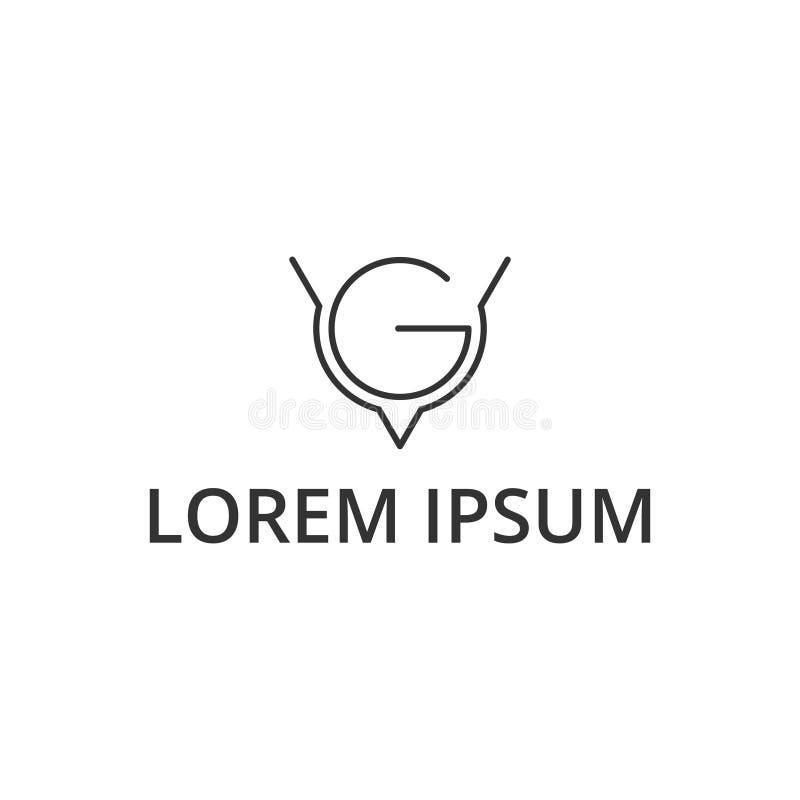 Lettre v g d'illustration de vecteur et conception de logo d'ic?ne d'oiseau illustration de vecteur