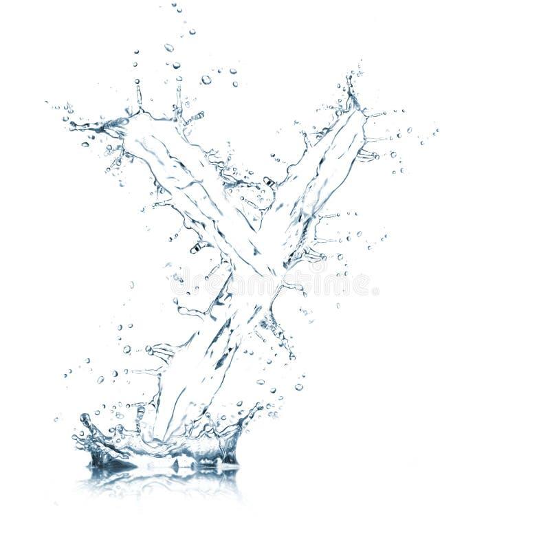 Lettre Y d'alphabet de l'eau photos libres de droits