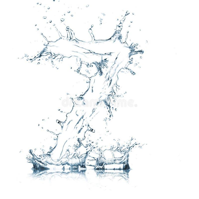 Lettre Z d'alphabet de l'eau photos stock