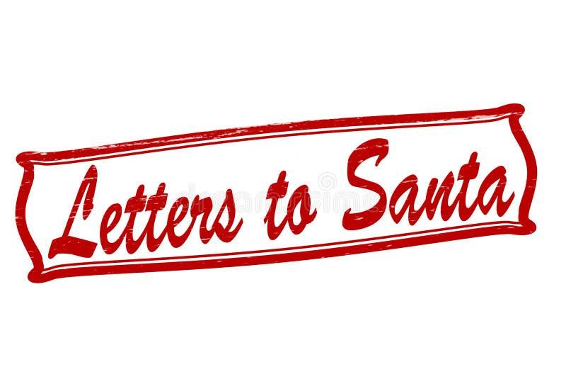 Lettres à Santa illustration libre de droits