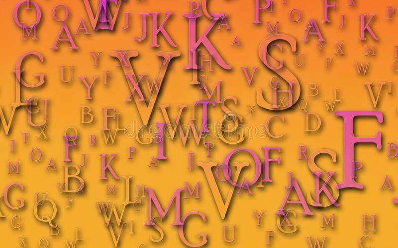 Lettres illustration de vecteur