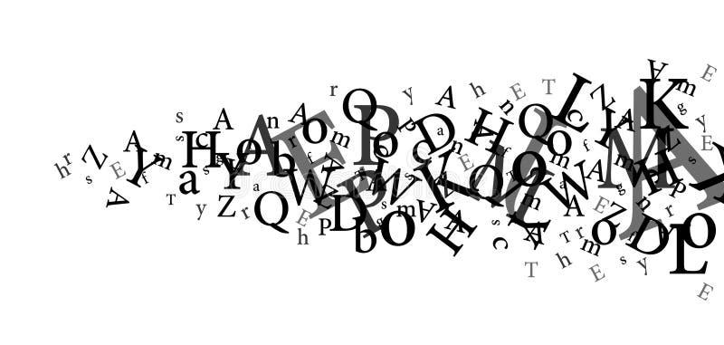 lettres illustration stock