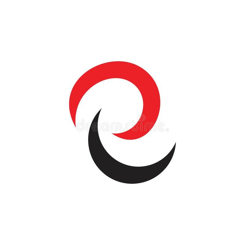 Lettres abstraites au sujet de vecteur simple de logo de courbes illustration stock