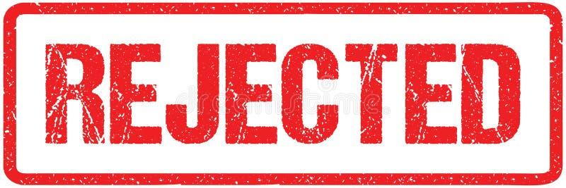 Lettres approximatives rejetées de joint rouge de joint d'isolement sur le blanc Effet grunge d'imitation de tampon en caoutchouc illustration stock