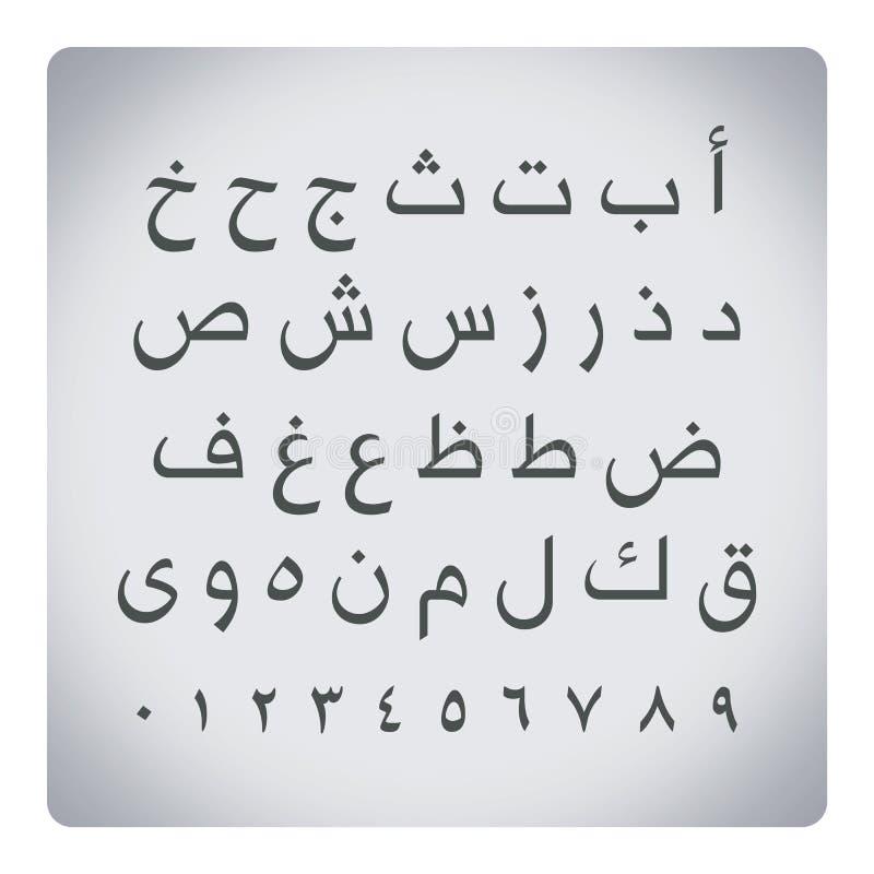 Lettres arabes avec des nombres photos libres de droits