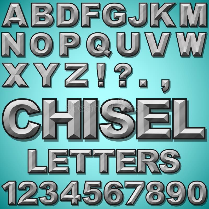 Lettres ciselées illustration libre de droits