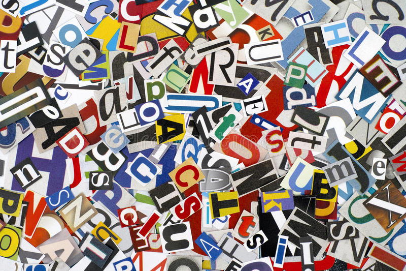 Lettres coupées photos stock