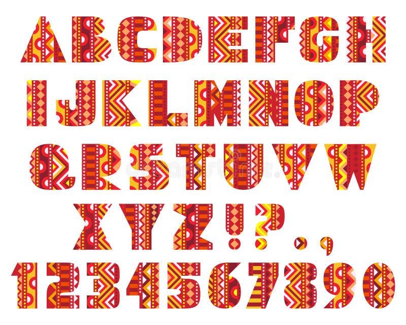 Lettres décoratives illustration libre de droits