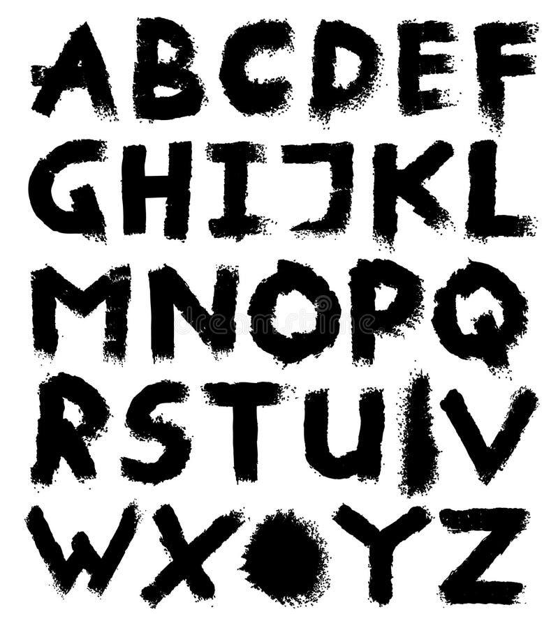 Lettres d'alphabet. illustration de vecteur