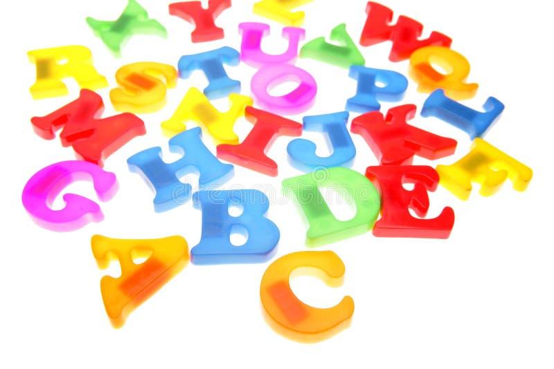 Lettres d'alphabet photographie stock