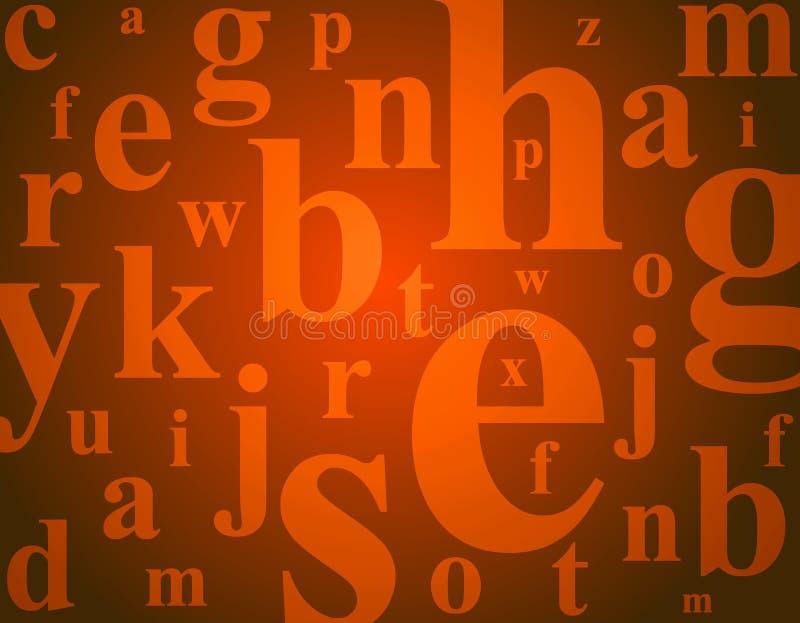 Lettres d'alphabet illustration libre de droits