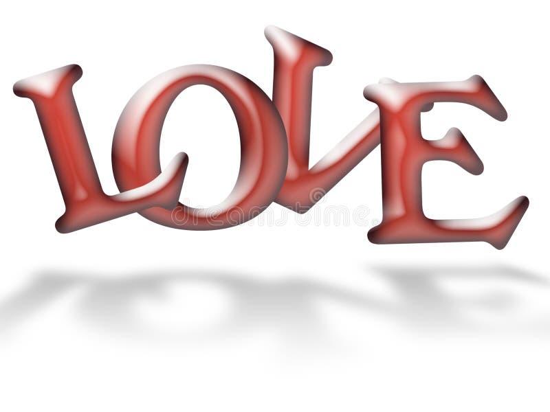 Lettres d'amour de gelée illustration libre de droits