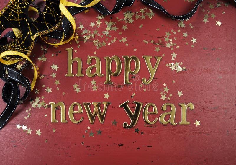 Lettres d'or de bonne année photos stock