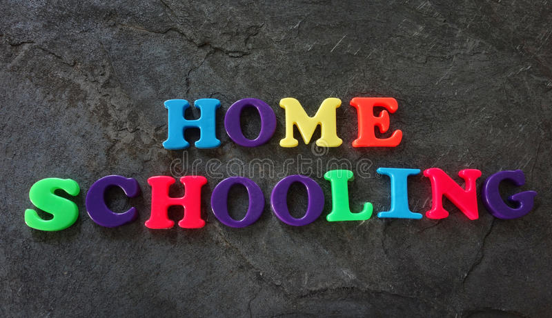 Lettres d'enseignement à domicile images stock