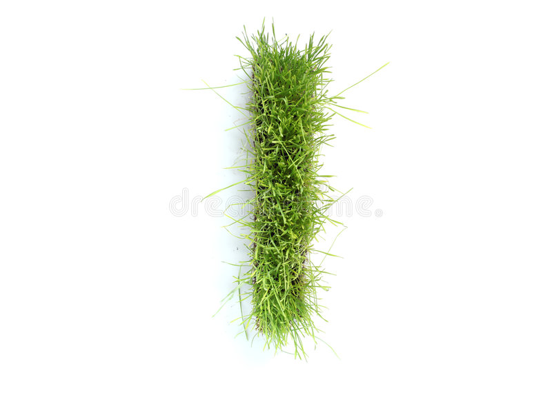 lettres d'herbe effectuées images stock
