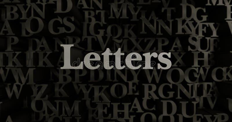 Lettres - 3D a rendu l'illustration composée métallique de titre illustration libre de droits