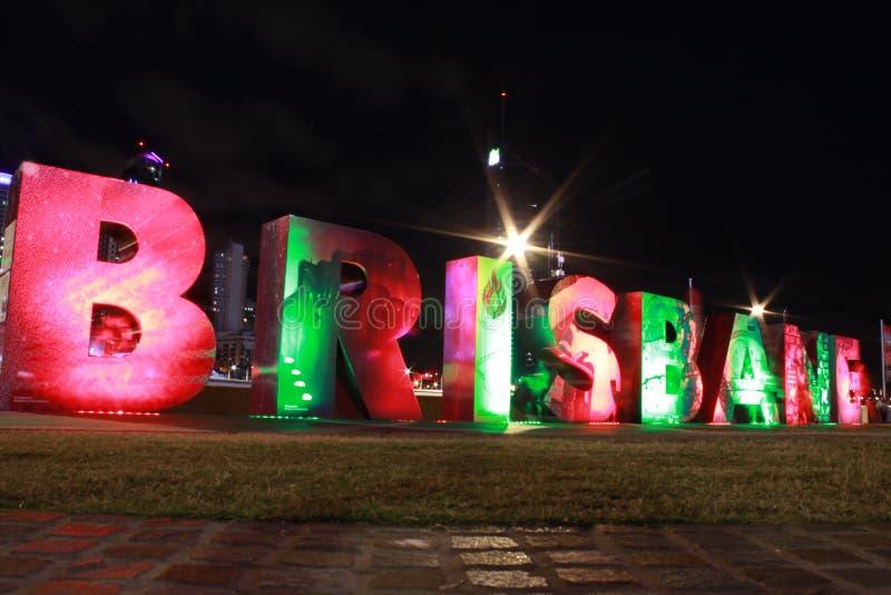 Lettres de Brisbane dans SouthBank Brisbane images stock