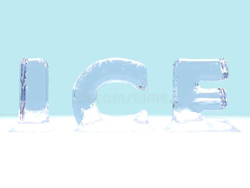 Lettres de glace illustration de vecteur
