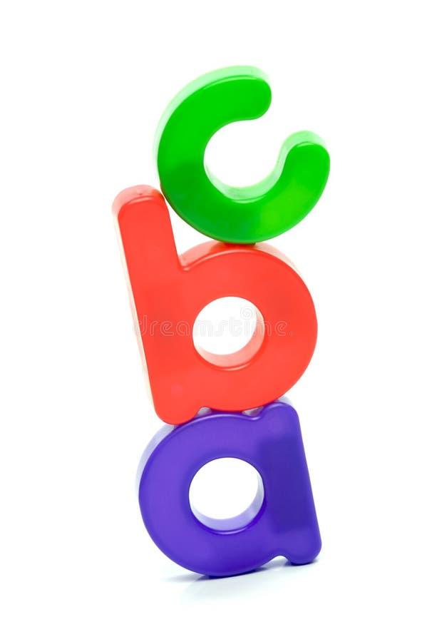 Lettres de l'alphabet image stock