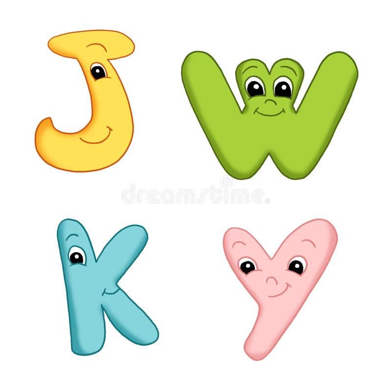 Lettres de l'alphabet - 4 illustration de vecteur