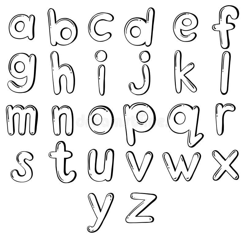 Lettres de l'alphabet illustration libre de droits