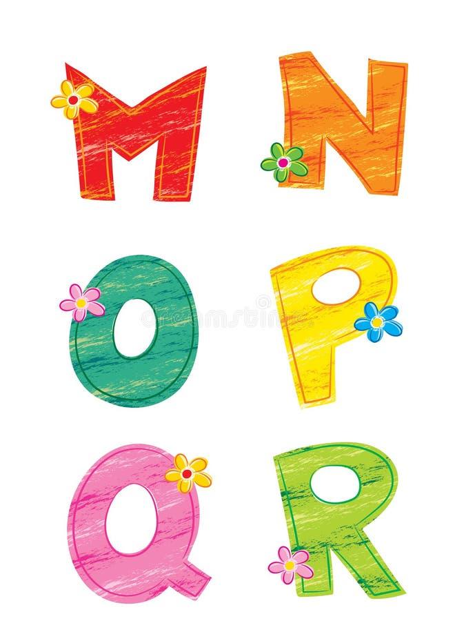 Lettres de l'alphabet 2, fleur illustration de vecteur