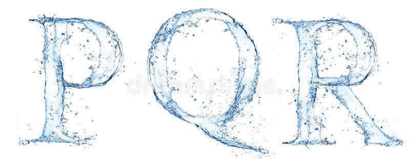 Lettres de l'eau illustration libre de droits