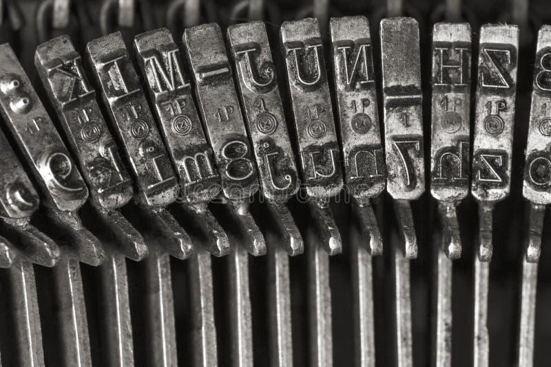 Lettres de machine ? ?crire de vintage photo libre de droits