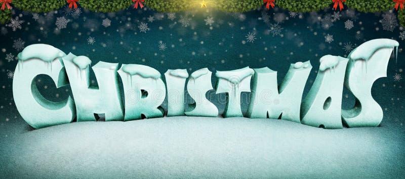 Lettres de Noël illustration de vecteur
