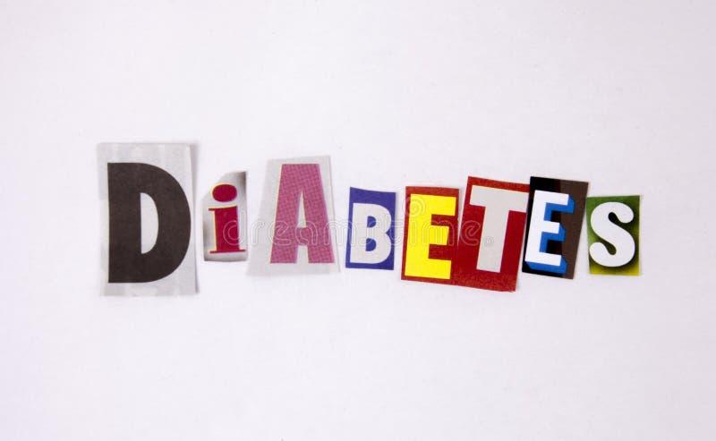 Lettres difftent de magazine de diabète pour le concept de santé image libre de droits