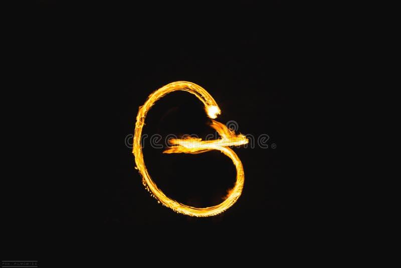 Lettres du feu photographie stock libre de droits