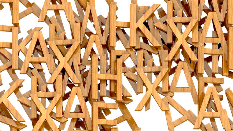 Lettres en bois illustration stock