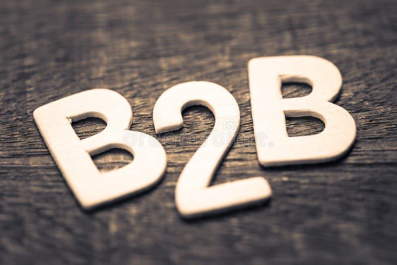 Lettres en bois de B2B images stock