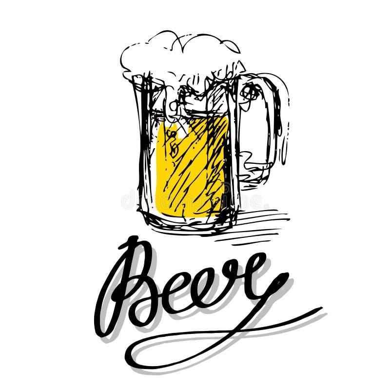 Lettres en verre de bière illustration libre de droits