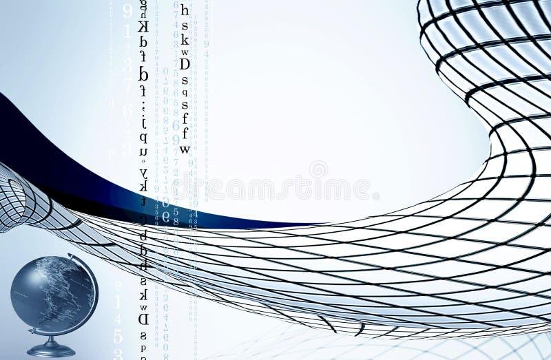 Lettres et numéros illustration stock
