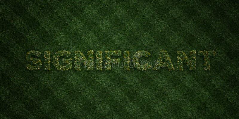 - Lettres fraîches d'herbe avec des fleurs et des pissenlits - 3D SIGNIFICATIF a rendu l'image courante gratuite de redevance illustration libre de droits