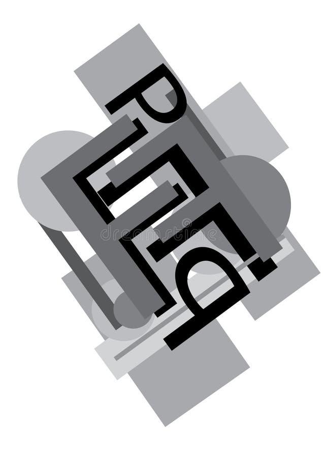 Lettres noires et blanches images stock