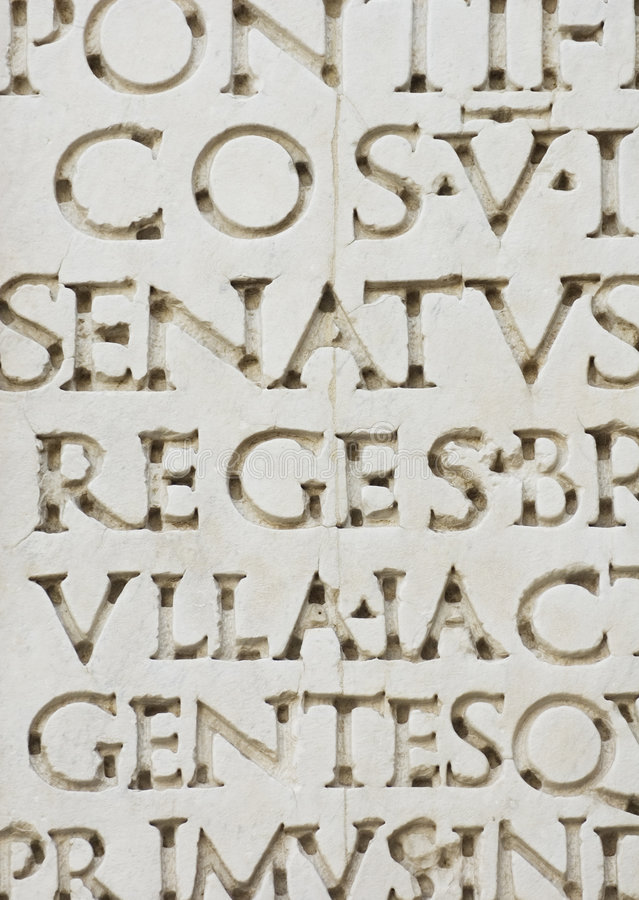 Lettres romaines image libre de droits