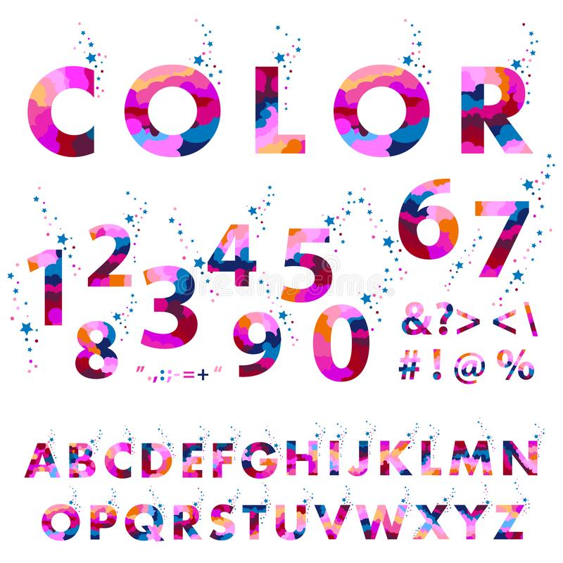 Lettres roses d'alphabet formées Style de police, conception de vecteur illustration libre de droits