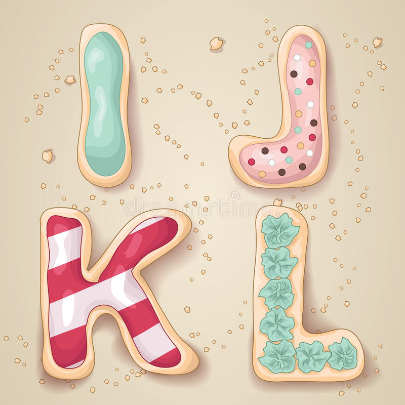 Lettres tirées par la main de l'alphabet I par L illustration libre de droits