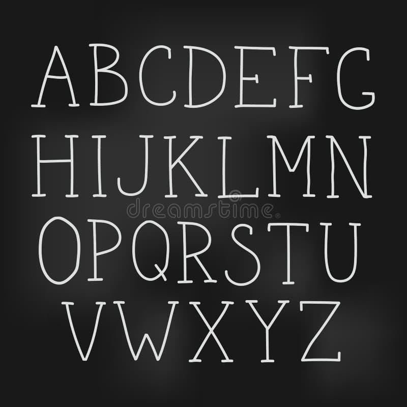 Lettres tirées par la main simples de vecteur illustration stock