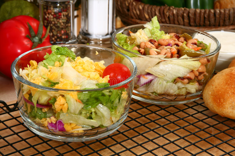 Download Lettuce and Bean Salads stock photo. Image of healthy - 7823876