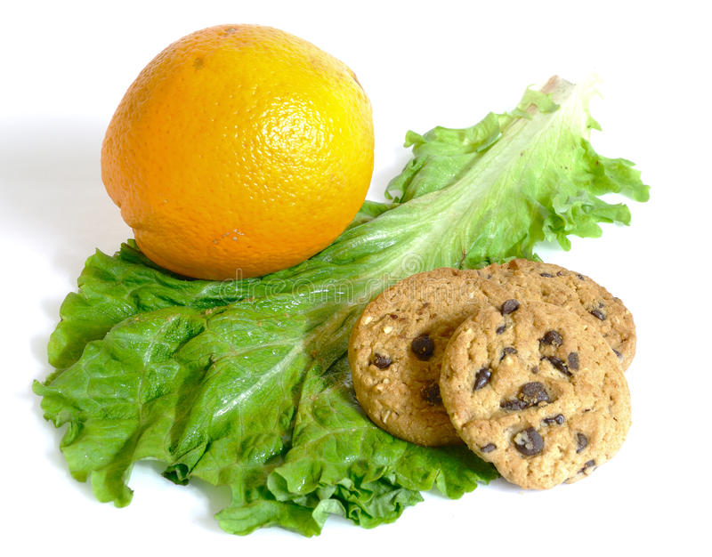Download Lettuce Or Cookies And Diet Or Dessert Isolated Stock Image - Image: 12918871