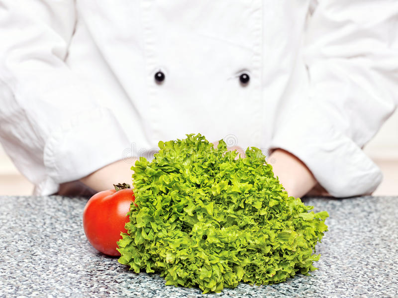 Download Lettuce And Tomato In Front Of The Chefs Stock Image - Image: 24094907