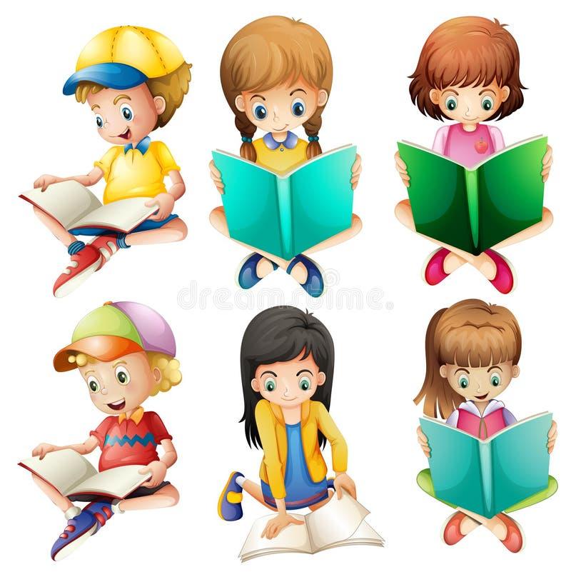 Lettura dei bambini illustrazione vettoriale