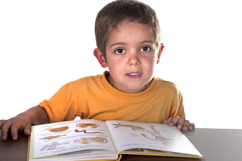 Lettura del bambino immagine stock